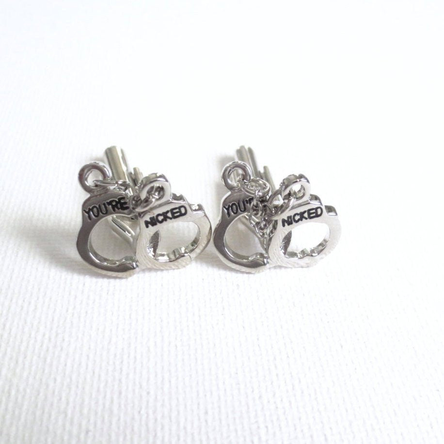 Handcuffs Cufflinks - Groomsmen Groom Wedding Gift For Him
