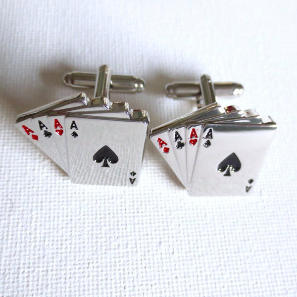 Poker Cards Cufflinks - MarkandMetal.com