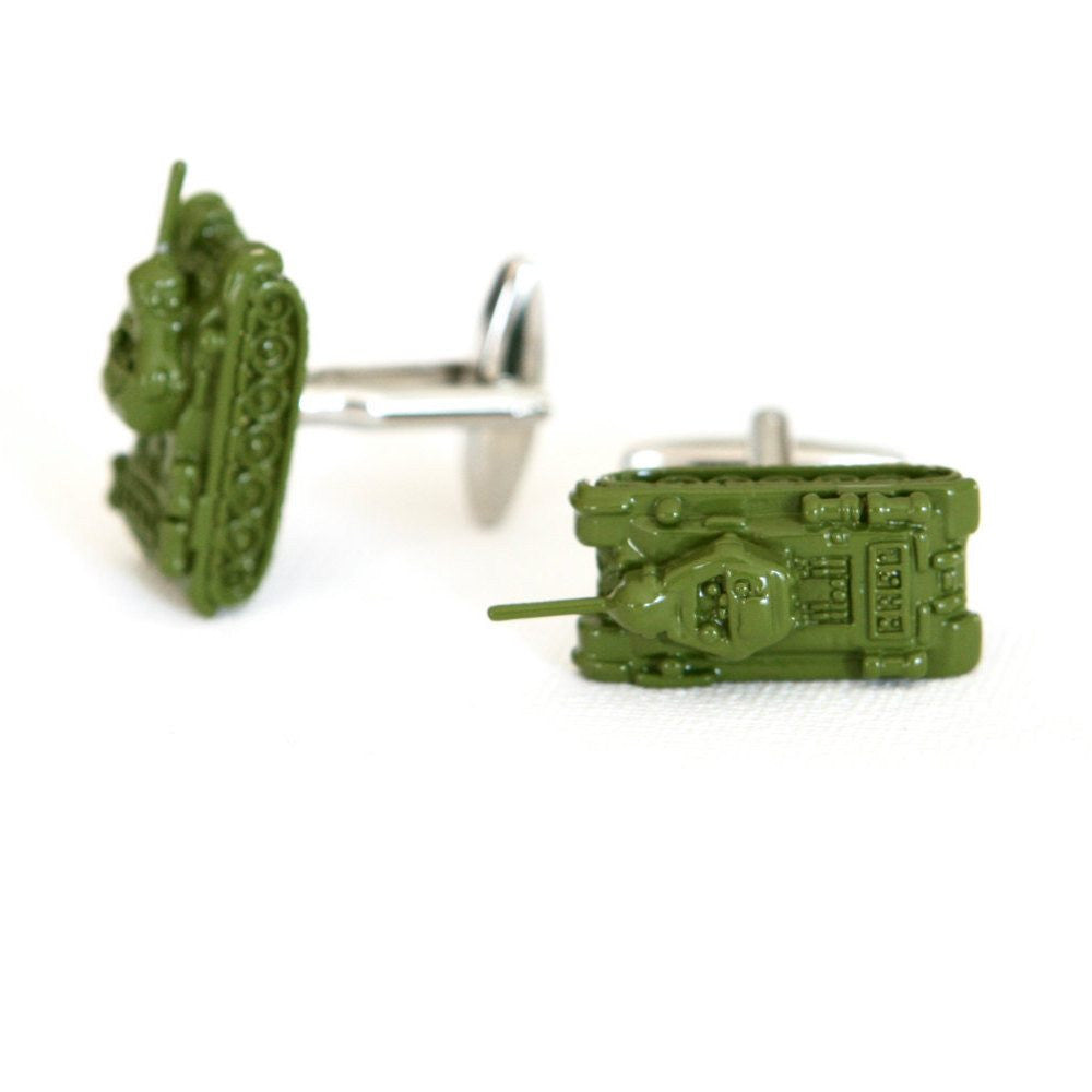 Military Tank Cufflinks - MarkandMetal.com