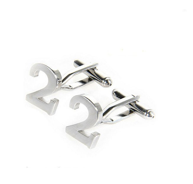 Number Cufflinks - MarkandMetal.com