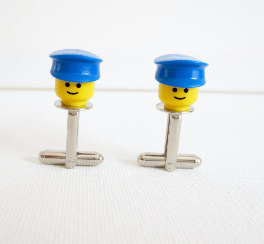LEGO Police Officer Cufflinks - MarkandMetal.com