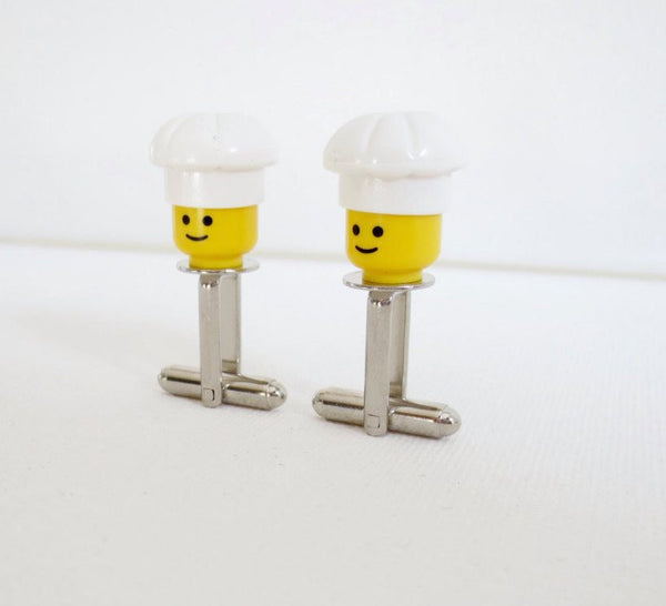 LEGO Chef Cufflinks - MarkandMetal.com