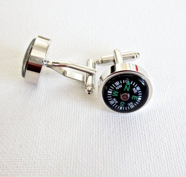 Compass Camper Cufflinks - Men's Accessories and gifts for him