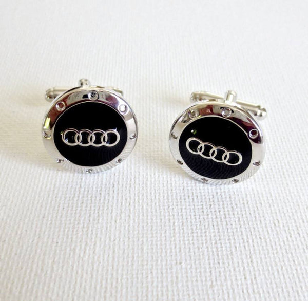 Audi Cufflinks Car Logo - MarkandMetal.com