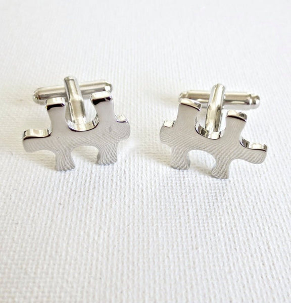 Puzzle Pieces Cufflinks - MarkandMetal.com