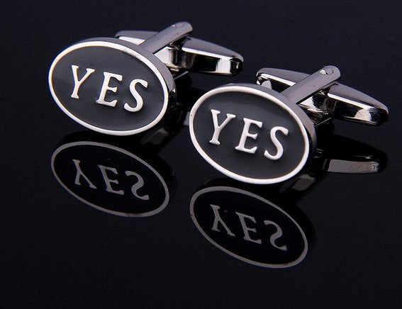 YES Cufflinks - MarkandMetal.com