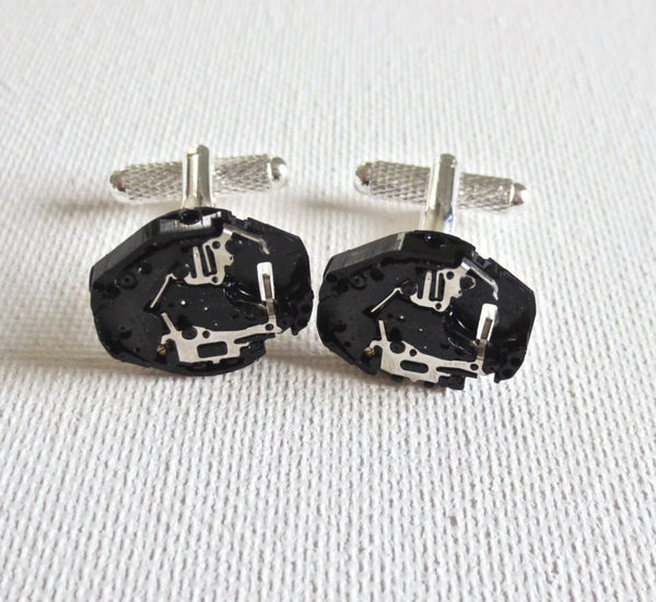 Watch Movement Cufflinks - MarkandMetal.com
