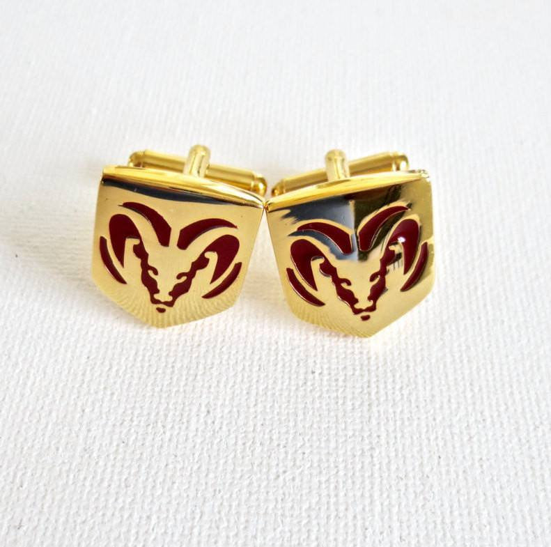 Dodge Cufflinks Car Logo - MarkandMetal.com