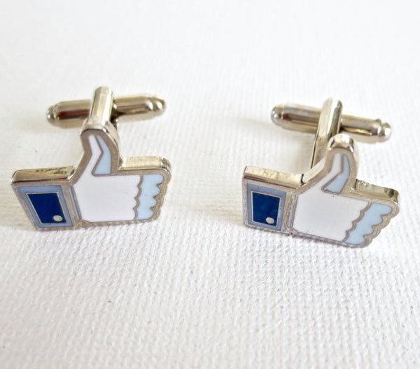 Facebook Thumbs Up Cufflinks - MarkandMetal.com