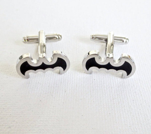 Batman Cufflinks - Groomsmen Groom Wedding Gift For Him