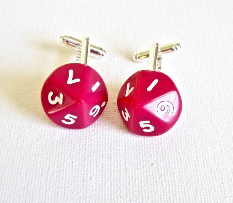 Dungeon and Dragons D10 Dice Cufflinks - MarkandMetal.com