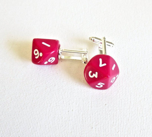 Dungeon and Dragons D10 Dice Cufflinks - Groomsmen Groom Wedding Gift For Him
