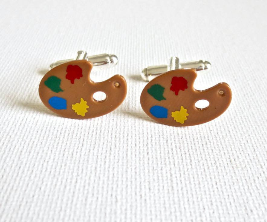 Mini Art Easels Cufflinks - MarkandMetal.com