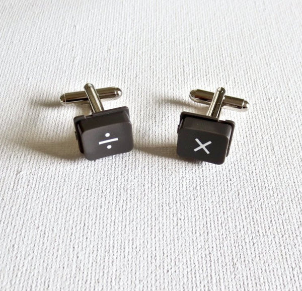 Math Teacher Cufflinks - MarkandMetal.com
