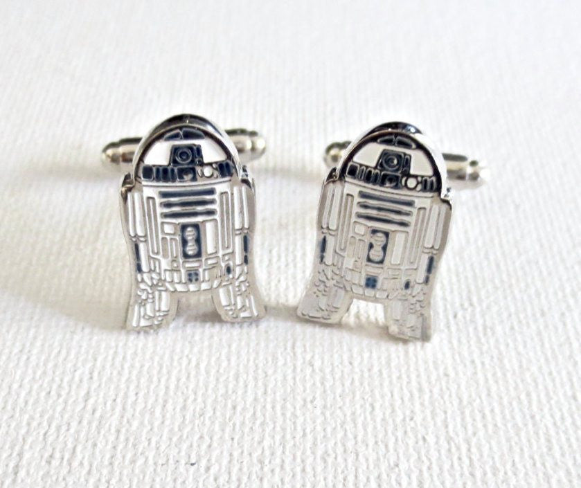 R2D2 Star Wars Cufflinks - MarkandMetal.com