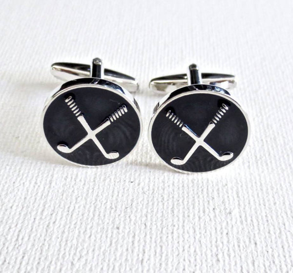 Golf Player Cufflinks - Groomsmen Groom Wedding Gift For Him