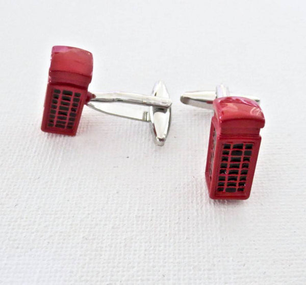 Telephone Phone Booths Cufflinks - MarkandMetal.com