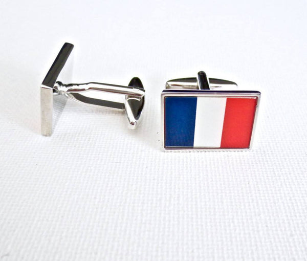French Flags Cufflinks - Groomsmen Groom Wedding Gift For Him