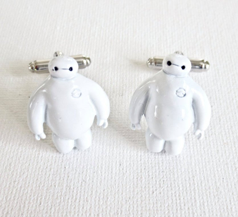 Big Hero 6 Six Baymax Cufflinks - Groomsmen Groom Wedding Gift For Him