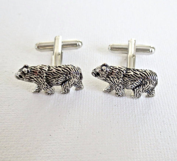 Bear Cufflinks - Groomsmen Groom Wedding Gift For Him