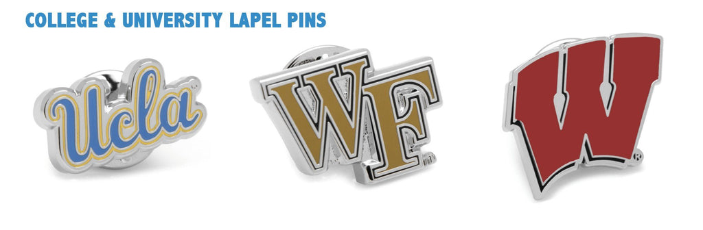 University College Cufflinks Label Pins