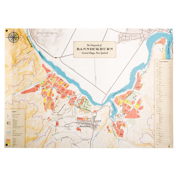Bannockburn Vineyard Map