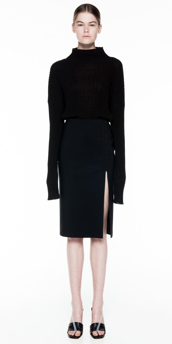 Laced Coil Pencil Skirt