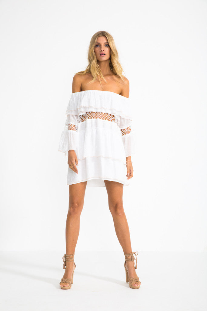 Frill Off Shoulder Dress