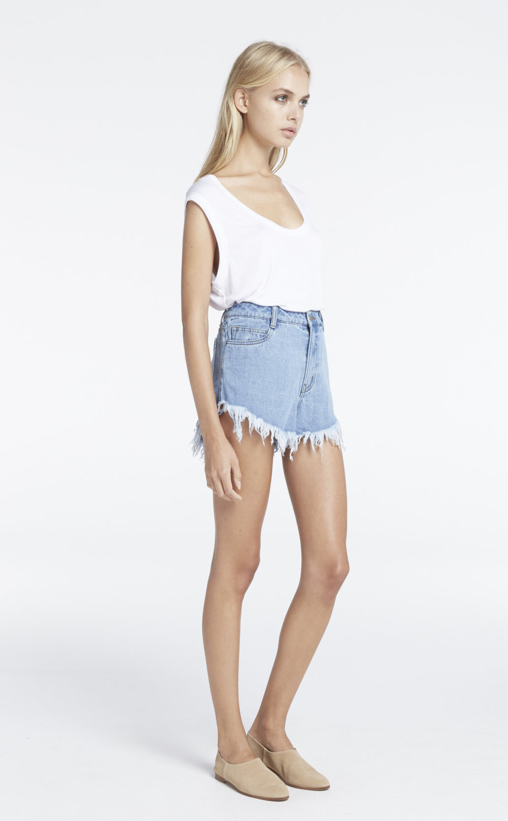 Zed Fray Denim Short - Indigo