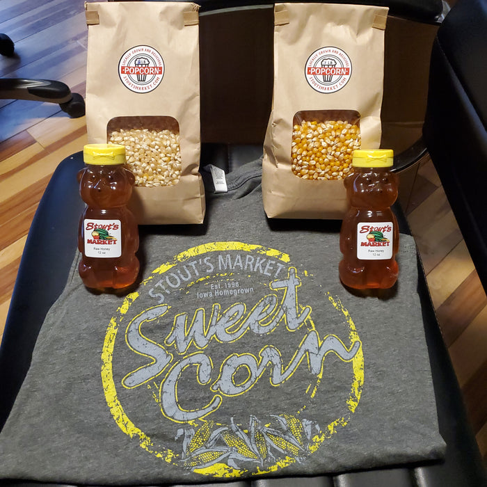 Everything Pkg - Shirt, Honey, and Popcorn