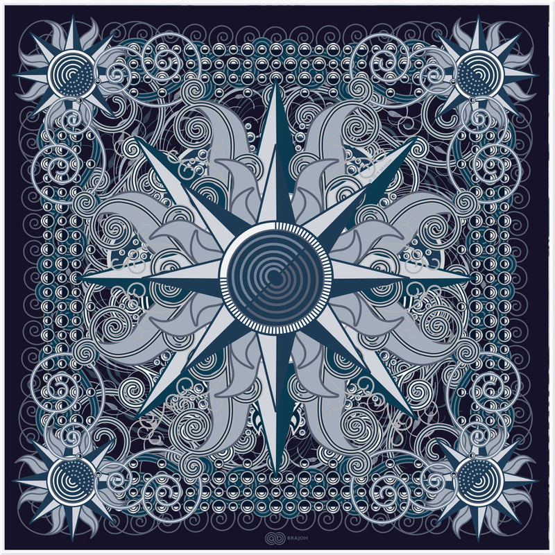 THROUGH STELLAR LABYRINTHS | Blue | Satin