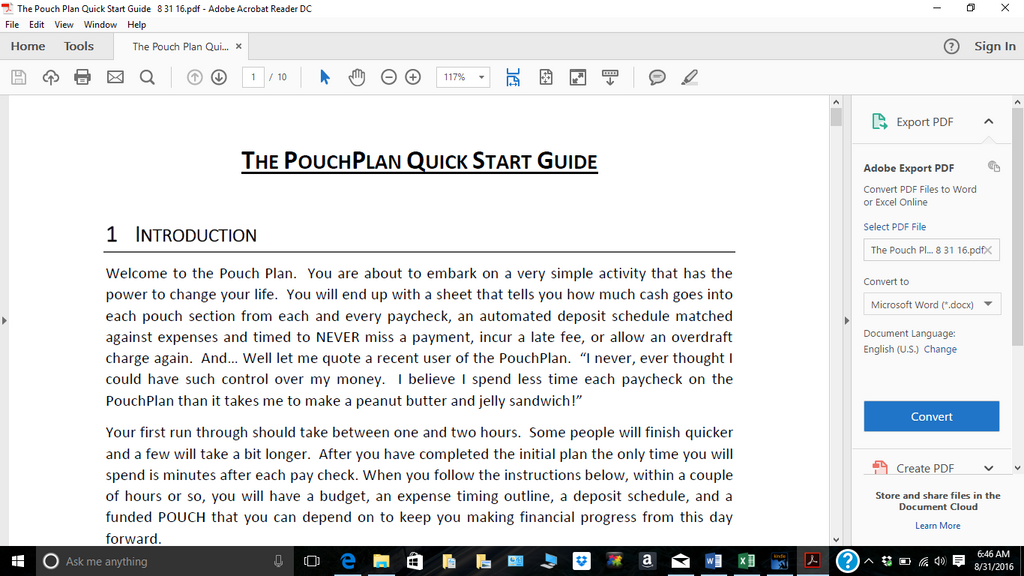 PouchPlan Quick Start Guide