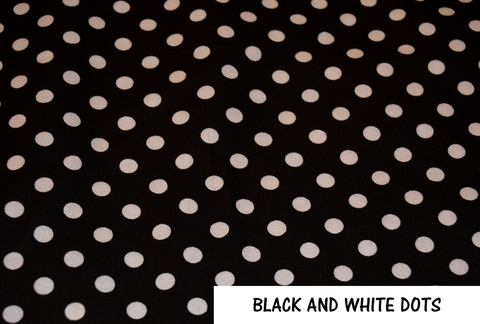 Black and White Dots Face Mask