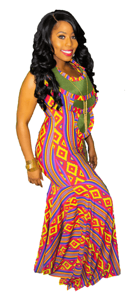 Ankara Inspired Bodycon Mermaid Dress