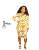 Gold Chains on Ivory Bodycon Dress