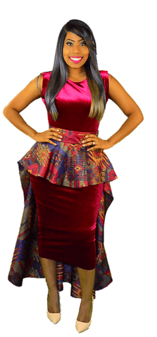 Ankara Inspired Skirt Jacket