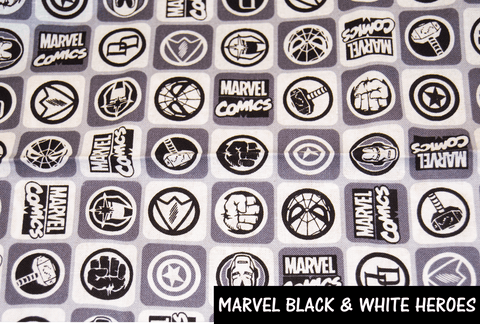 Marvel Black and White Heroes Face Mask