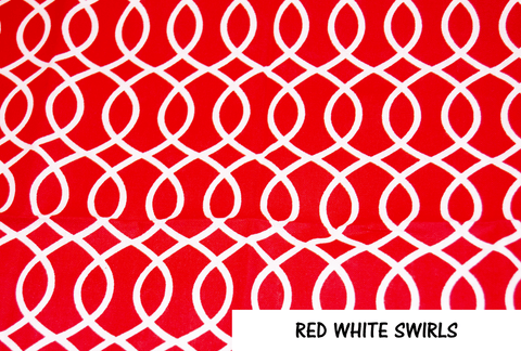Red White Swirls Face Mask