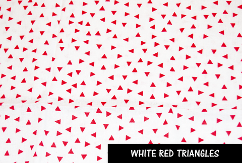 White Red Triangles Face Mask