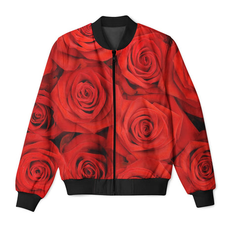 Red Rose Jacket Unisex Tops - Blue Flame Clothing