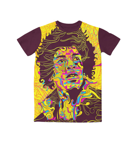 Jimmy Hendrix Tee Unisex Tops - Blue Flame Clothing