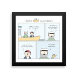 """Boat Question"" Print"