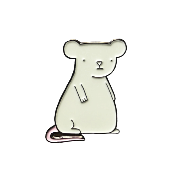 """Gray Mouse"" Pin"