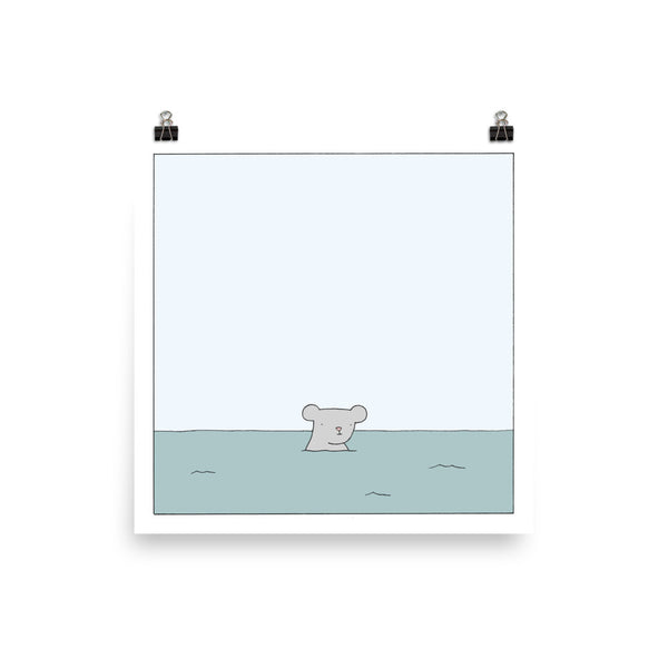 """Mouse in the Ocean"" Print"
