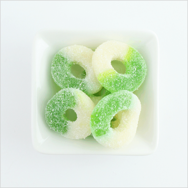 Green Apple Rings - CoCa LeNa Candy Shop Port Washington