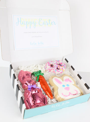 "Say ""Happy Easter"" to your little bunnies with this sweet Easter collection of candy"