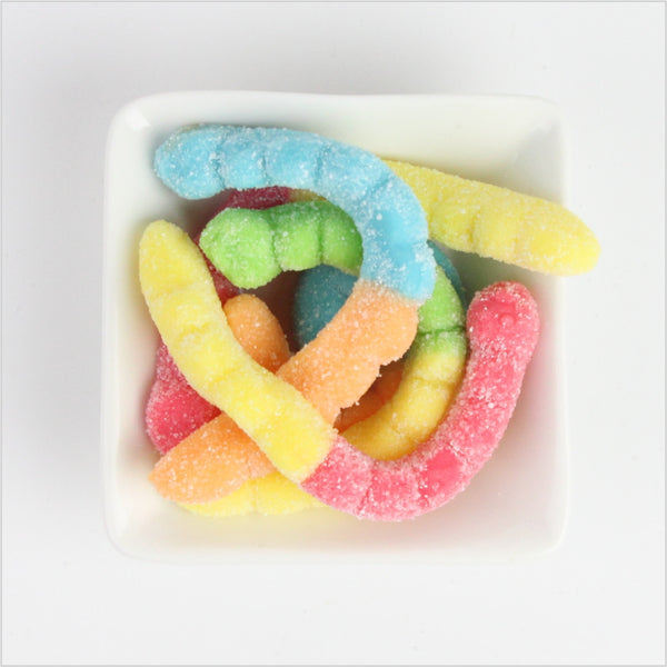 Large Neon Sour Worms - CoCa LeNa Candy Shop Port Washington