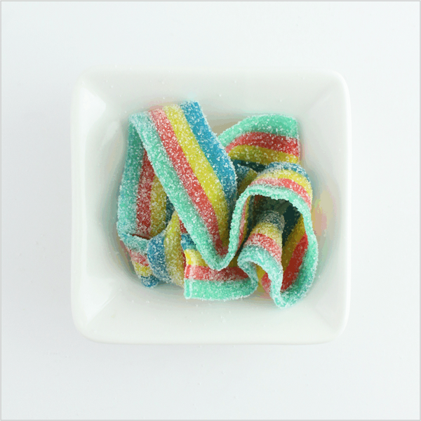 Rainbow Sour Belts - CoCa LeNa Candy Shop Port Washington
