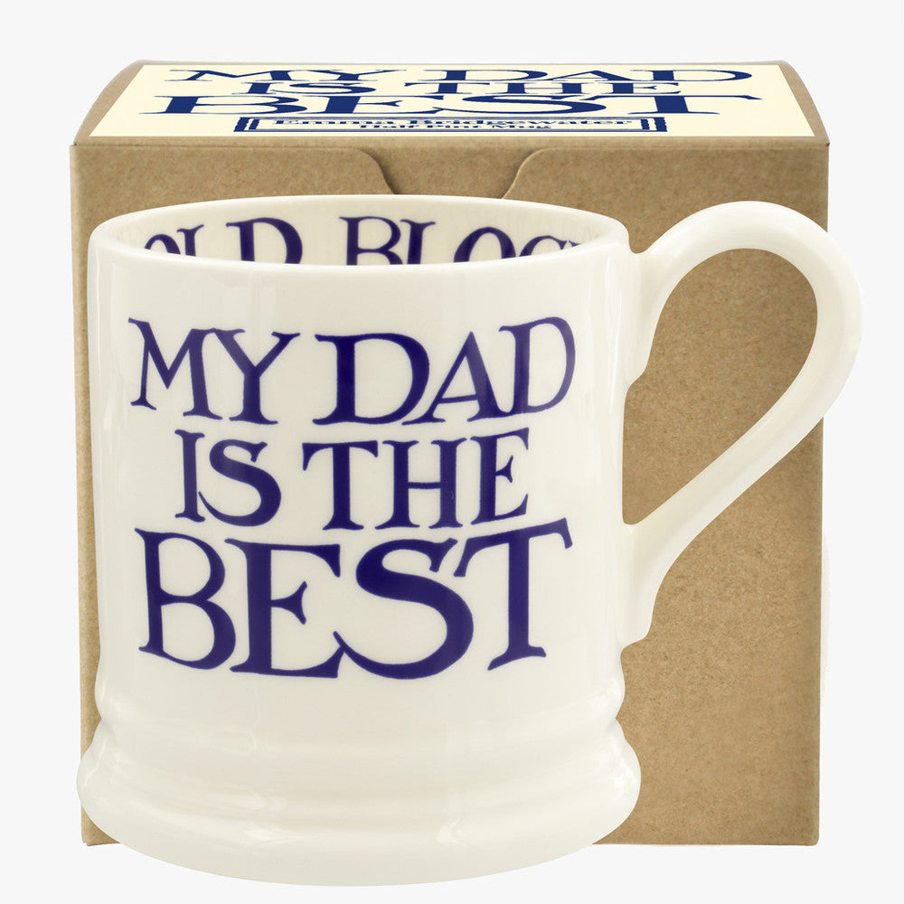 Emma Bridgewater Gift Boxed 1/2 pint Blue Toast and Marmalade My Dad is the Best Mug