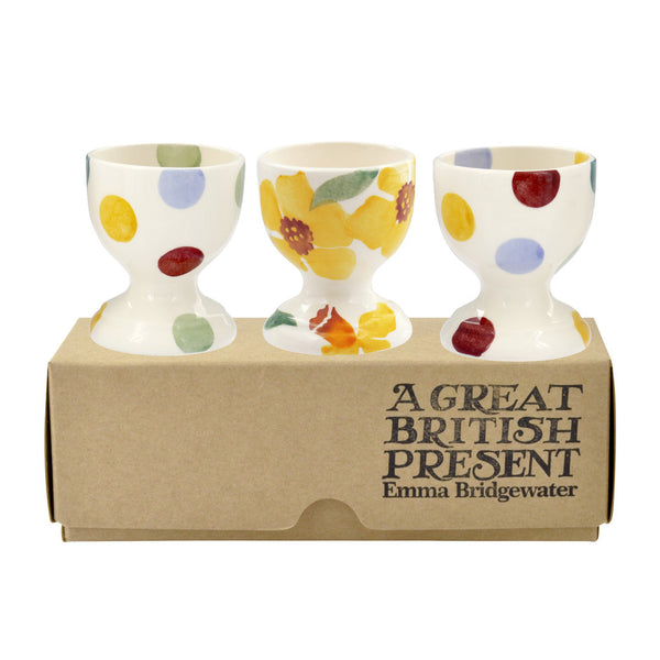 Emma Bridgewater Daffodils Set of 3 Egg Cups - Gift Boxed